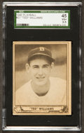 Baseball Cards:Singles (1940-1949), 1940 Play Ball Ted Williams #27 SGC 45 VG+ 3.5. ...