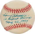 "Baseball Collectibles:Balls, Harvey Haddix ""12 Perfect Innings"" Single Signed Baseball. ..."