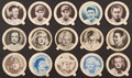 "Non-Sport Cards:Lots, 1930's-1940's Dixie Lids ""Hoodsie"" Ice Cream Lids Collection (63)With Movie and Baseball Stars. ..."