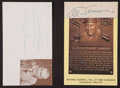 Baseball Collectibles:Others, Al Simmons and Tris Speaker Signed Memorabilia Lot of 2....