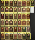 Baseball Collectibles:Others, Baseball Greats Hall of Fame Plaque Postcards Lot of 43....