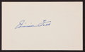 Baseball Collectibles:Others, Jimmie Foxx Signed Index Card - Mint Signature! ...