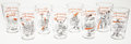 Baseball Collectibles:Others, 1954 Baltimore Orioles Set of Eight Glasses. ...