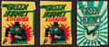 """Non-Sport Cards:Unopened Packs/Display Boxes, 1966 Topps & Donruss """"Green Hornet"""" Wax Pack Trio (3). ..."""