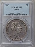 Coins of Hawaii: , 1883 $1 Hawaii Dollar VF35 PCGS. PCGS Population (47/540). NGCCensus: (18/300). Mintage: 500,000. ...