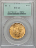 Indian Eagles, 1915 $10 MS63 PCGS....