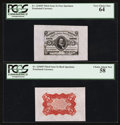 Fractional Currency:Third Issue, Fr. 1236SP 5¢ Third Issue Wide Margin Pair PCGS Very Choice New 64 and Choice About New 58.. ... (Total: 2 notes)