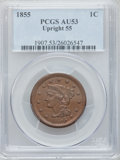 Large Cents: , 1855 1C Upright 5s AU53 PCGS. PCGS Population (18/385). NGC Census:(14/555). Mintage: 1,574,829. Numismedia Wsl. Price for...