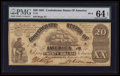 Confederate Notes:1861 Issues, T18 $20 1861 PF-9 Cr. UNL.. ...