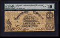 Confederate Notes:1861 Issues, T18 $20 1861 PF-15 Cr. UNL.. ...