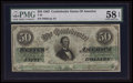 Confederate Notes:1862 Issues, T50 $50 1862 PF-6 Cr. 353.. ...