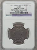 Large Cents: , 1797 1C Reverse of 1797, Stems -- Improperly Cleaned -- NGCDetails. Fine. S-137. NGC Census: (8/107). PCGS Population (19...