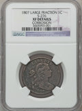 Large Cents: , 1807 1C Large Fraction -- Corrosion -- NGC Details. XF. S-276. NGCCensus: (2/17). PCGS Population (6/19). Mintage: 829,22...