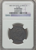 Large Cents, 1803 1C Small Date, Large Fraction -- Damaged -- NGC Details. VF.S-258. NGC Census: (1/7). PCGS Population (15/107). Num...