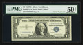 Small Size:Silver Certificates, Serial Number One Fr. 1620 $1 1957A Silver Certificate. PMG About Uncirculated 50 Net.. ...
