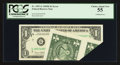 Error Notes:Foldovers, Fr. 1907-G $1 1969D Federal Reserve Note. PCGS Choice About New55.. ...