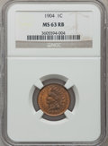 Indian Cents: , 1904 1C MS63 Red and Brown NGC. NGC Census: (188/748). PCGSPopulation (146/495). Mintage: 61,328,016. Numismedia Wsl. Pric...