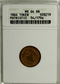 Civil War Patriotics, 1864 The Federal Union It Must Be Preserved, MS64 Red & BrownANACS....