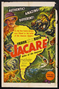 "Movie Posters:Documentary, Jacaré, Killer of the Amazon (United Artists, 1942). One Sheet (27"" X 41""). Adventure. Starring Frank Buck, Miguel Rojinsky ..."