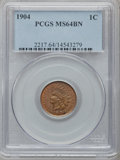 Indian Cents: , 1904 1C MS64 Brown PCGS. PCGS Population (60/7). NGC Census:(174/52). Mintage: 61,328,016. Numismedia Wsl. Price for probl...