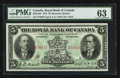 Canadian Currency: , Montreal, PQ- The Royal Bank of Canada $5 Jan. 2, 1913 Ch #630-12-04. ...