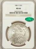 Morgan Dollars: , 1881-S $1 MS66 NGC. CAC. NGC Census: (16053/4170). PCGS Population(12167/1743). Mintage: 12,760,000. Numismedia Wsl. Price...