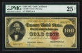 Large Size:Gold Certificates, Fr. 1209 $100 1882 Gold Certificate PMG Very Fine 25 Net.. ...