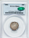 Proof Seated Dimes, 1882 10C PR66+ PCGS. CAC....
