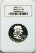 Proof Franklin Half Dollars: , 1956 50C Type Two PR68 Cameo NGC. NGC Census: (371/110). PCGSPopulation (609/30). Numismedia Wsl. Price for problem free ...