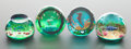 Decorative Arts, British:Other , A GROUP OF FOUR CAITHNESS CASED GLASS LIMITED EDITION PAPERWEIGHTS. Circa 1980. Marks: CAITHNESS SCOTLAND PROOF, FOLLOW M...(Total: 4 Items)