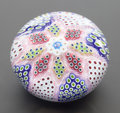 Decorative Arts, French:Other , A ST. LOUIS CASED GLASS PAPERWEIGHT: ARLEQUIN . Circa 1989.Marks: SL 1989 (signature cane). 2-1/8 inches hi...