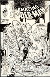 Todd McFarlane The Amazing Spider-Man #303 Cover Original Art (Marvel, 1988)