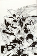 Original Comic Art:Covers, Todd McFarlane Marvel Tales #233 Spider-Man and X-Men CoverOriginal Art (Marvel, 1990)....