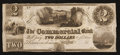 Obsoletes By State:Michigan, Gratiot, MI- Commercial Bank $2 Remainder G2 Lee GRT-1-1. ...