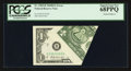 Error Notes:Foldovers, Fr. 1905-B $1 1969B Federal Reserve Note. PCGS Superb Gem New68PPQ.. ...
