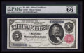 Large Size:Silver Certificates, Fr. 267 $5 1891 Silver Certificate PMG Gem Uncirculated 66 EPQ.....