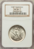 Commemorative Silver: , 1937 50C Texas MS66 NGC. NGC Census: (355/74). PCGS Population(358/91). Mintage: 6,571. Numismedia Wsl. Price for problem ...
