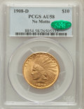 Indian Eagles: , 1908-D $10 No Motto AU58 PCGS. CAC. PCGS Population (209/405). NGCCensus: (296/426). Mintage: 210,000. Numismedia Wsl. Pri...