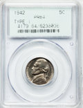 Proof Jefferson Nickels: , 1942 5C Type One PR64 PCGS. PCGS Population (304/2628). NGC Census:(132/1476). Mintage: 29,600. Numismedia Wsl. Price for ...