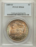 Morgan Dollars: , 1889-O $1 MS64 PCGS. PCGS Population (1460/151). NGC Census:(954/55). Mintage: 11,875,000. Numismedia Wsl. Price for probl...