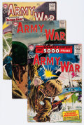 Golden Age (1938-1955):War, Our Army at War Group (DC, 1955-57) Condition: Average VG....(Total: 9 Comic Books)