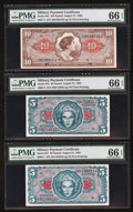 Military Payment Certificates:Series 641, Series 641 High Denomination Trio.. ... (Total: 3 notes)