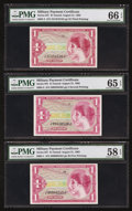 Military Payment Certificates:Series 641, Series 641 $1 Trio.. ... (Total: 3 notes)