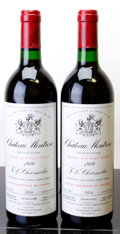 Red Bordeaux, Chateau Montrose 1989 . St. Estephe. 1lbsl. Bottle (2). ...(Total: 2 Btls. )