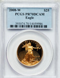 Modern Bullion Coins, 2008-W $25 Gold Eagle PR70 Deep Cameo PCGS. PCGS Population (375). NGC Census: (0). ...