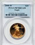 Modern Bullion Coins, 2008-W $25 Gold Eagle PR70 Deep Cameo PCGS. PCGS Population (373). NGC Census: (0). (#393074)...