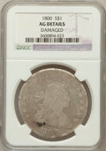 Early Dollars, 1800 $1 -- Damaged -- NGC Details. AG. NGC Census: (0/839). PCGSPopulation (4/1024). Mintage: 220,920. Numismedia Wsl. Pri...
