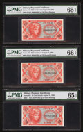 Military Payment Certificates:Series 641, Series 641 Gem Uncirculated Grouping.. ... (Total: 9 notes)