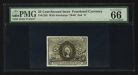 Fr. 1285 25¢ Second Issue PMG Gem Uncirculated 66 EPQ