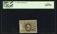 Fr. 1286 25¢ Second Issue PCGS Gem New 66PPQ